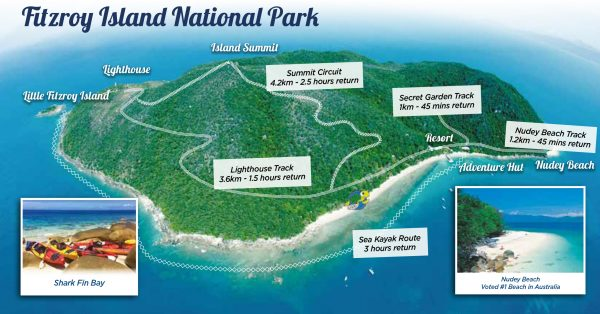 Fitzroy Island Adventures National Park Map